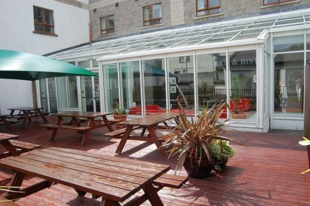 The Clybaun Hotel out door tables