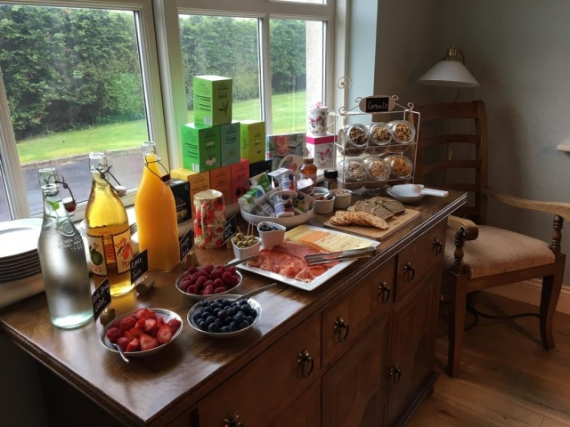 Carraigdun B&B Claregalway buffet breakfast