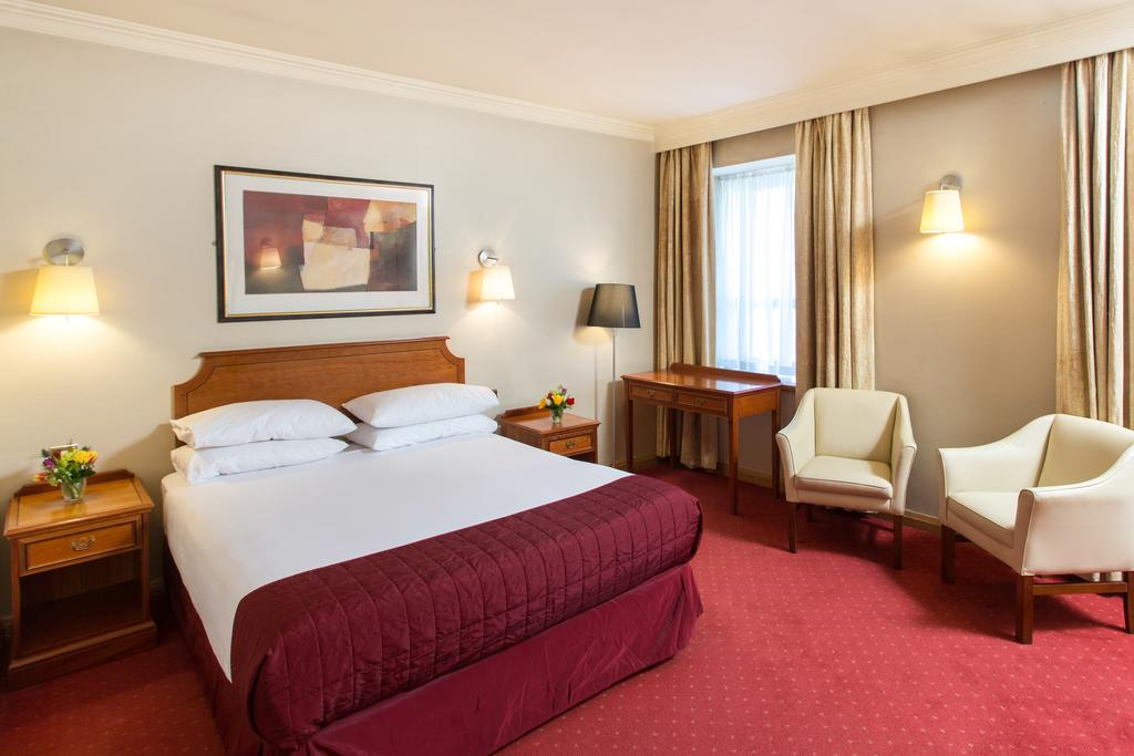 double bedroom at hotel near Galway Train Station
