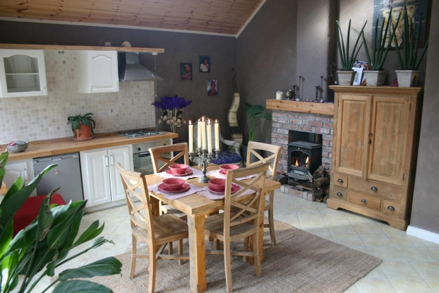 Slieve Aughty eco friendly self catering dining area